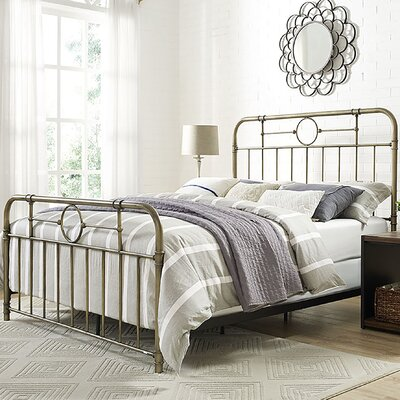 Wilhelmina Metal Pipe Queen Bed