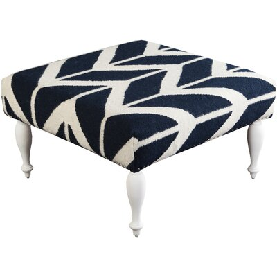 Cairo Flatweave Ottoman Upholstery: Navy