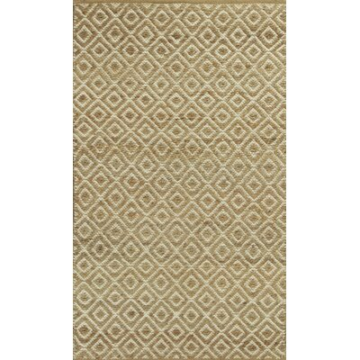 Lenore Sand Diamonds Hand-Woven Area Rug Rug Size: Runner 26 x 8