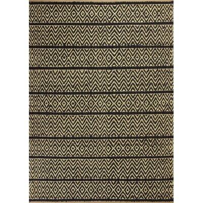 Lenore Black Horizon Rug Rug Size: 23 x 39