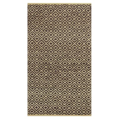 Lenore Hand-Woven Mocha Diamonds Area Rug Rug Size: Runner 26 x 8