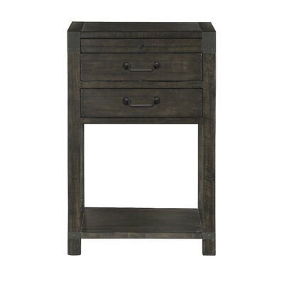 Open 2 Drawer Nightstand