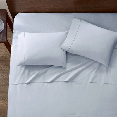 Baine Fiber Dyed 180 Thread Count Cotton Sheet Set Size: King, Color: Blue