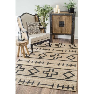 Casper Natural Hand-Woven Area Rug Rug Size: Rectangle 6 x 9