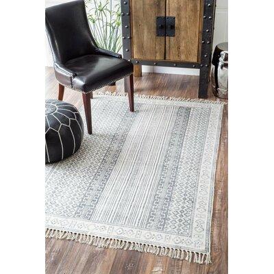 Dunwoody Handmade Gray Area Rug Rug Size: 86 x 116