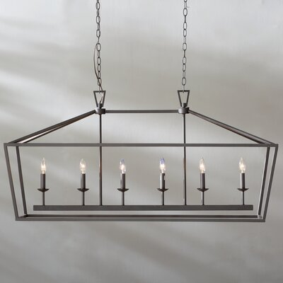 Carmen 6-Light Geometric Pendant Finish: Rubbed Oil Bronze