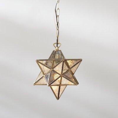 Nikki 1-Light Mini Pendant Finish: Bronze / Antique Mercury, Size: 10 H x 9 W x 9 D