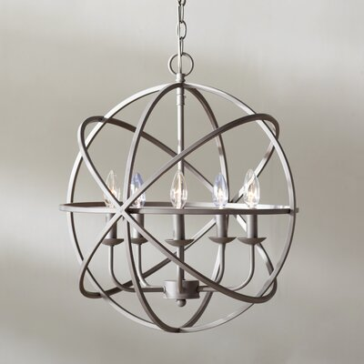 Hankinson 5-Light Globe Pendant Finish: Rubbed Oil Bronze