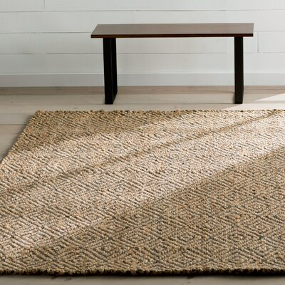 Grassmere Hand-Woven Natural/Grey Area Rug Rug Size: Rectangle 8 x 10