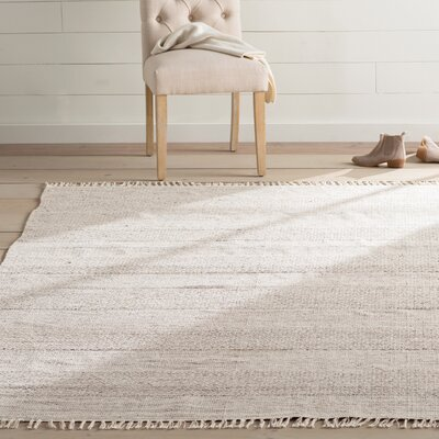 Oxbow Hand-Woven Ivory/Steel Grey Area Rug Rug Size: Rectangle 10 x 14