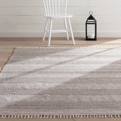 Oxbow Hand-Woven Ivory/Anthracite Area Rug Rug Size: Rectangle 9 x 12