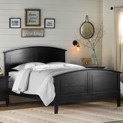 Lignite Panel Bed Size: King, Color: Black