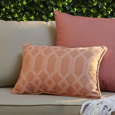 Adairsville Indoor/Outdoor Lumbar Pillow Color: Coral
