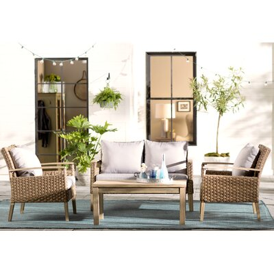 Canonsburg 4 Piece Deep Seating Group with Cushions
