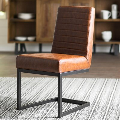 Imane Side Chair Upholstery Color: Brown