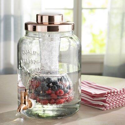 Hahira Copper Chill and Flavor 2 Gallon Beverage Dispenser
