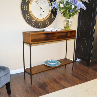 Ashton Console Table Finish: Chestnut/Black