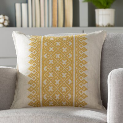 Killigrew Pillow Cover Size: 18 H x 18 W x 1 D, Color: Yellow