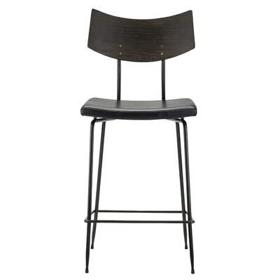 Landau Bar Stool Upholstery: Black