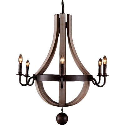 Greenmeadow 6-Light Candle-Style Chandelier