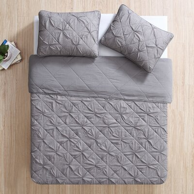 Greensboro Quilt Set Size: King, Color: Gray