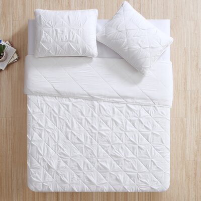Greensboro Quilt Set Size: King, Color: White