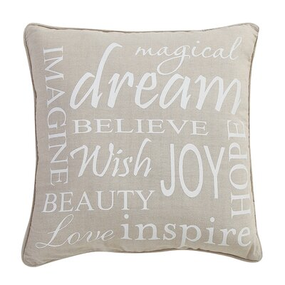 Gregory Inspire Words 100% Cotton Throw Pillow