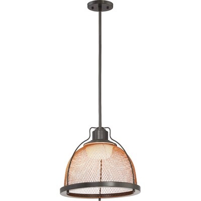 Helene 1-Light LED Inverted Pendant Finish: Dark Bronze/Copper