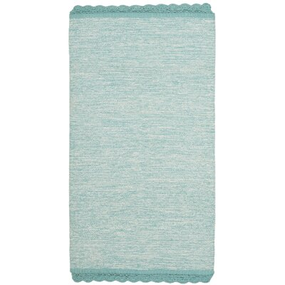 Mohnton Hand-Woven Turquoise/Gray Area Rug Rug Size: Rectangle 8 x 10