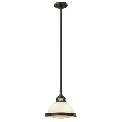Helenie 1-Light Mini Pendant Finish: Buckeye Bronze, Size: 9.75 H x 11.5 W x 11.5 D