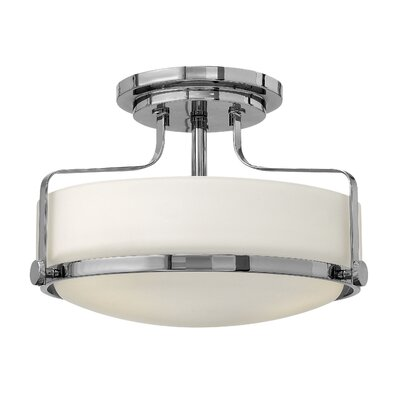 Heliotrope 3-Light Foyer Flush Mount Finish: Chrome, Bulb Type: MED