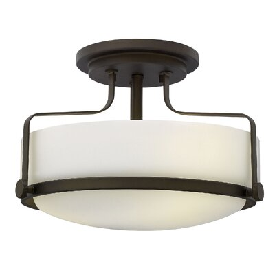 Heliotrope 3-Light Foyer Flush Mount Finish: Oil Rubbed Bronze, Bulb Type: FSI