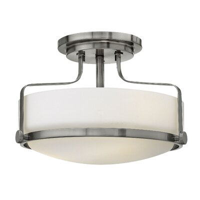 Heliotrope 3-Light Foyer Flush Mount Finish: Brushed Nickel, Bulb Type: MED