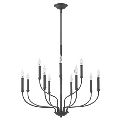 Kieu 12-Light Candle-Style Chandelier Finish: Buckeye Bronze