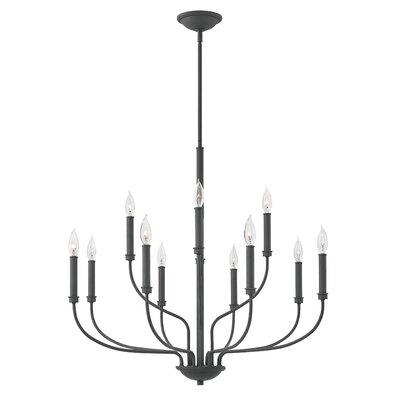 Henri 12-Light Candle-Style Chandelier Finish: Buckeye Bronze