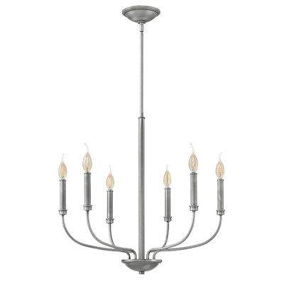 Kieu 6-Light Candle-Style Chandelier Finish: Antique Nickel