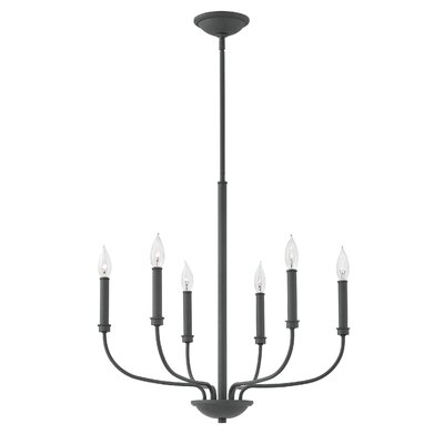Kieu 6-Light Candle-Style Chandelier Finish: Buckeye Bronze