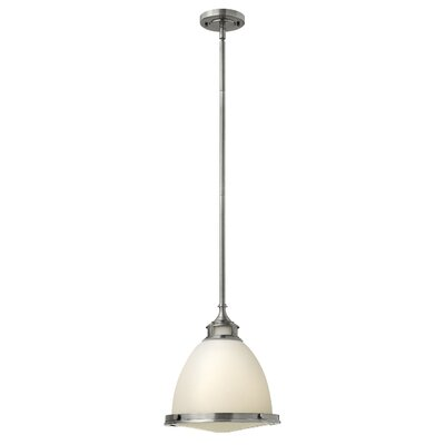 Helenie 1-Light Mini Pendant Size: 9.75 H x 11.5 W x 11.5 D, Finish: Buckeye Bronze