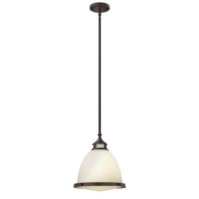 Helenie 1-Light Mini Pendant Finish: Buckeye Bronze, Bulb Type: 26W GU24