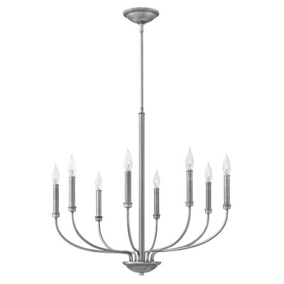 Kieu 8-Light Candle-Style Chandelier Finish: Antique Nickel