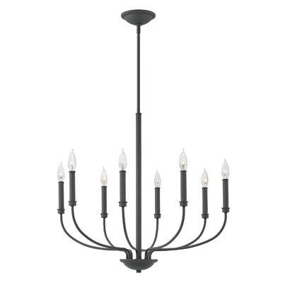 Kieu 8-Light Candle-Style Chandelier Finish: Buckeye Bronze