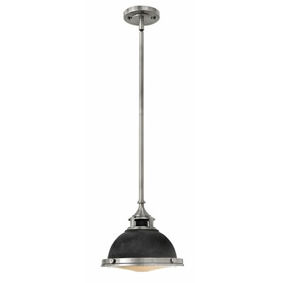 Helenie 1-Light Mini Pendant Finish: Aged Zinc