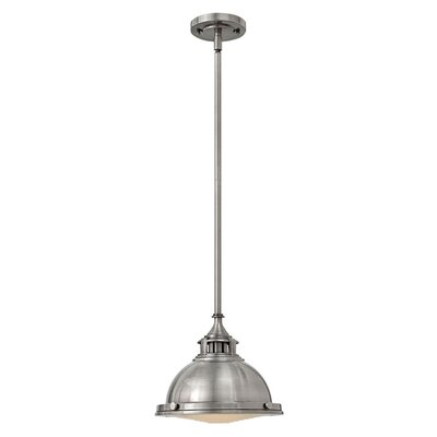 Helenie 1-Light Mini Pendant Finish: Polished Antique Nickel