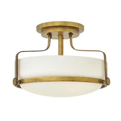 Heliotrope 1-Light Semi Flush Mount Bulb Type: LED