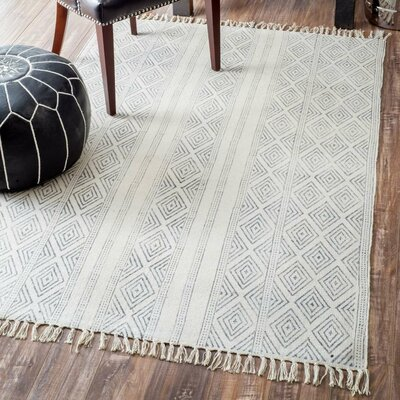 Dunkirk Handmade Off White Area Rug Rug Size: Rectangle 86 x 116