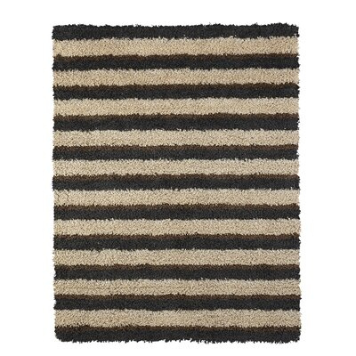 Adalia Brown Stripe Area Rug Rug Size: 5 x 7