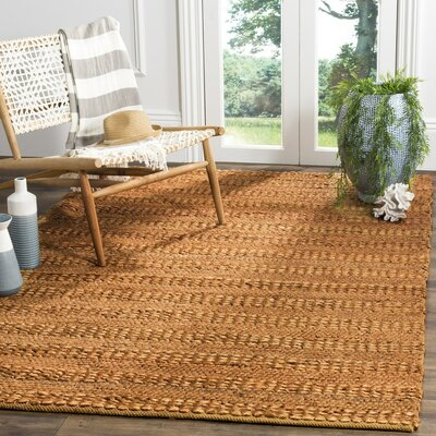 Tyler Hand-Woven Gold Area Rug Rug Size: Rectangle 9 x 12