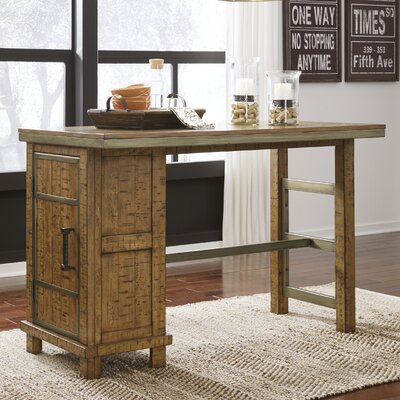 Desjardins Rectangular Counter Height Dining Table with Storage