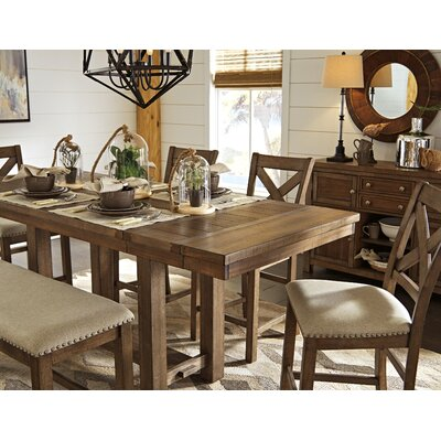Hillary Rectangular Counter Height Extendable Dining Table