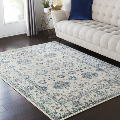 Hyde Park Blue Area Rug Rug Size: Rectangle 110 x 211